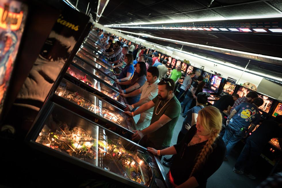 Massive pinball and arcade expo